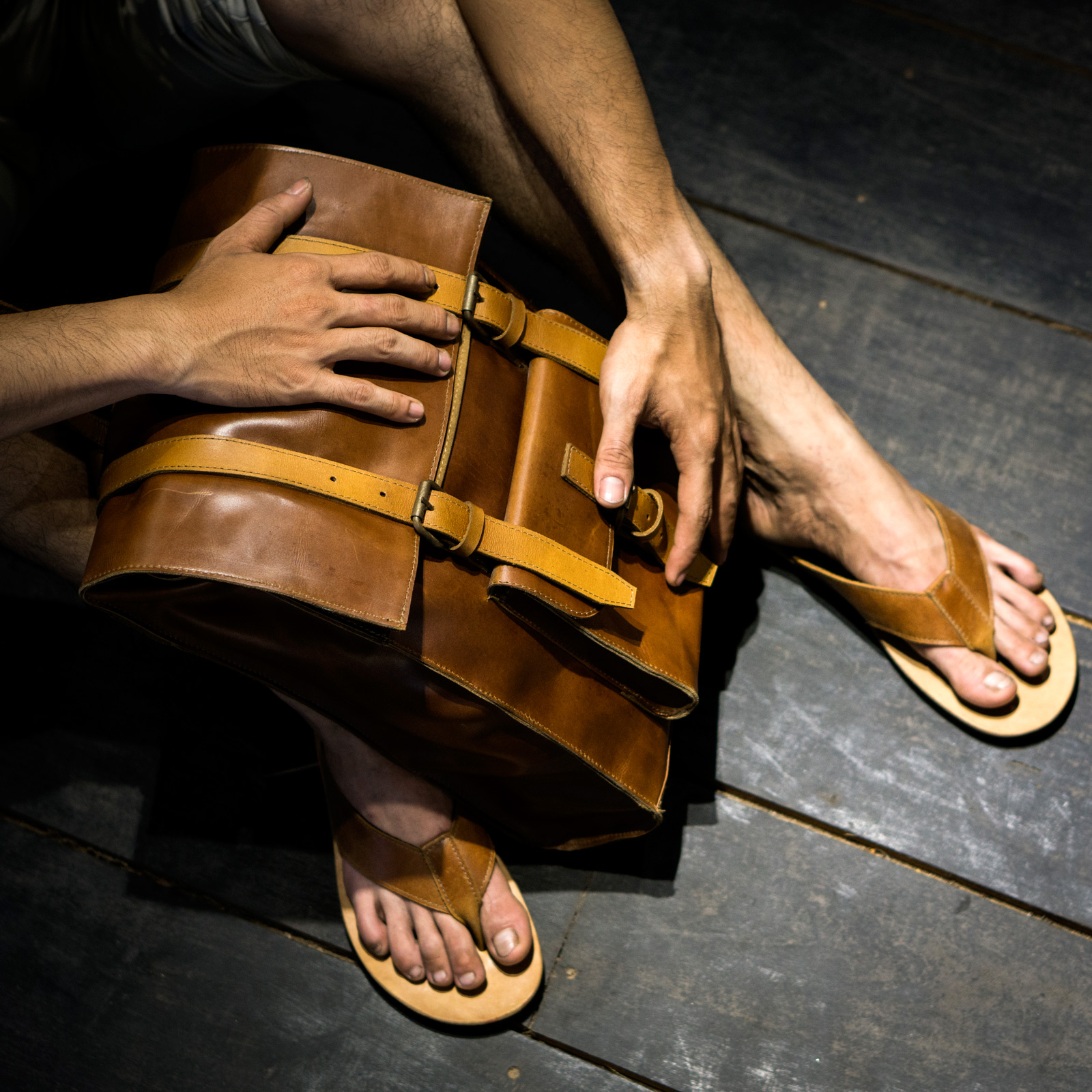 Leather bag in Hoi An